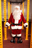 Santa Claus before Christmas training in gym - portrait Royalty Free Stock Photos
