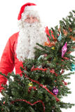 Santa Claus with Christmas tree Royalty Free Stock Photo