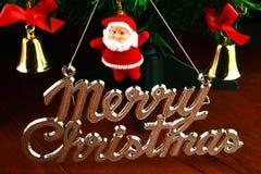 Santa claus on christmas tree Royalty Free Stock Photo