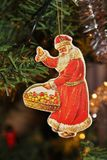 Santa Claus. A Santa Claus in a Christmas tree Stock Photo