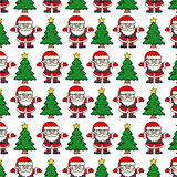 Santa Claus and Christmas tree Royalty Free Stock Photo