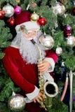Santa Claus and Christmas tree Royalty Free Stock Photos