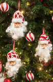Santa claus christmas tree decorations Royalty Free Stock Images