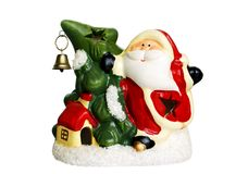 Santa Claus with Christmas tree Royalty Free Stock Image