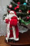 Santa Claus. Christmas tree. Stock Photo
