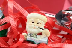 Santa Claus Christmas Tree Ornament Lizenzfreies Stockbild