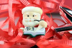 Santa Claus Christmas Tree Ornament Lizenzfreie Stockfotos