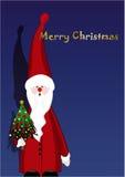 Santa Claus & Christmas tree Stock Photography