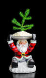 Santa Claus and Christmas tree Royalty Free Stock Images