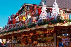 Christmas Market in Strasbourg, Alsace, France stock photo
