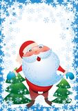 Santa Claus And Christmas Tree Vector vektor illustrationer