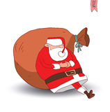 Santa claus Christmas. vector illustration. Royalty Free Stock Photography