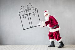 Santa Claus Christmas Xmas Holiday Concept stockbild