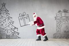 Santa Claus Christmas Xmas Holiday Concept arkivbild