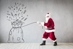 Santa Claus Christmas Xmas Holiday Concept Photos stock