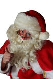 Santa. Claus close up pointing with eye contact Stock Image