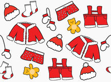 Santa Claus clothes seamless pattern Royalty Free Stock Photography