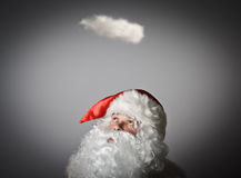 Santa Claus and cloud Royalty Free Stock Photos