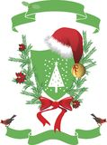 Santa Claus Coat of arm. Royalty Free Stock Images