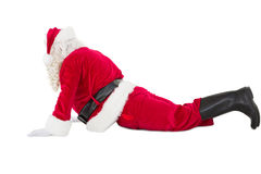 Santa claus in cobra pose Stock Image