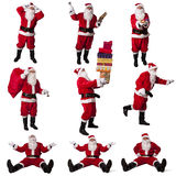 Santa claus collection Royalty Free Stock Image