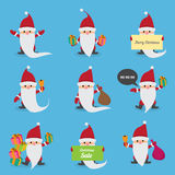 Santa Claus collection. vector illustration Royalty Free Stock Image