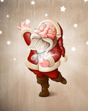 Santa Claus collects stars Stock Photography