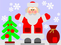 Santa Claus color 03. Vector. Santa Claus in color 03 stock illustration