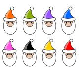 Santa claus color Stock Image