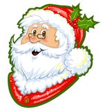 Santa Claus Color Clipart. For Christmas greeting cards Royalty Free Stock Image
