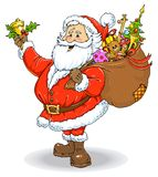 Santa Claus Color Illustration. For Christmas Royalty Free Stock Photography