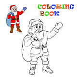 Santa Claus. Coloring for kids. Royalty Free Stock Image