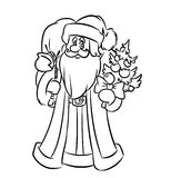 Santa Claus coloring pages Royalty Free Stock Photo