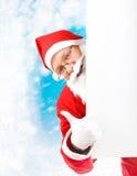 Santa Claus com placa vazia Foto de Stock Royalty Free