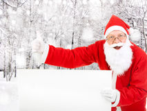 Santa Claus com placa vazia Fotografia de Stock Royalty Free