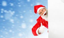 Santa Claus com placa vazia Imagens de Stock