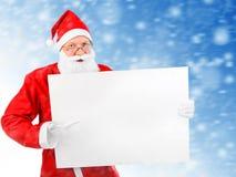 Santa Claus com placa vazia Foto de Stock