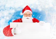 Santa Claus com placa vazia Imagens de Stock Royalty Free