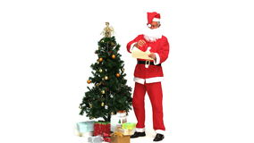 Santa Claus com presentes vídeos de arquivo