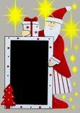 Santa Claus com quadro-negro Imagem de Stock