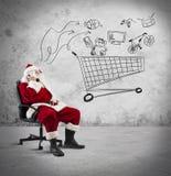 Santa Claus com telefone foto de stock royalty free