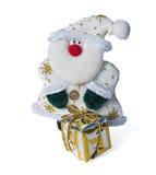 Santa Claus com um presente Imagem de Stock