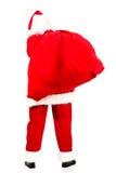 Santa Claus com um saco completo dos presentes Imagem de Stock