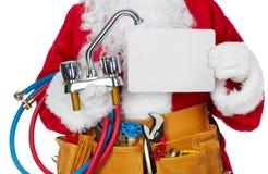 Santa Claus com uma correia da ferramenta Imagens de Stock