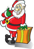 Santa Claus Come Here. This is Santa Claus asking you to come over and receiving your gift Royalty Free Stock Photos
