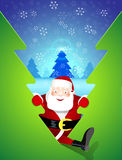 Santa Claus comes to visit. Vector illustration Stock Images