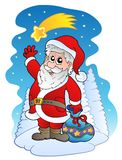 Santa Claus with comet Stock Image