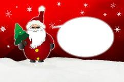 Santa Claus Comic fraîche avec le ballon de lunettes de soleil Image libre de droits