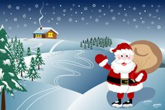 Santa Claus is Coming winter landscape Royalty Free Stock Photo