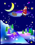 Santa claus is coming Stock Image